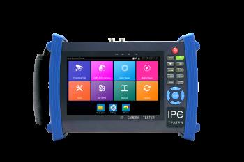 """CCTV/VSS tester 7"""" IP+Analog 4K, PoE, HDMI, Wi-Fi, testování sítě"""