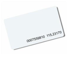 MIFARE 1K karta ISO s číslem
