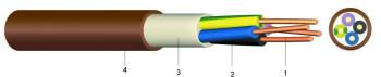 1-CXKH-V-J 3x1,5 FE180/P60-R /h/-/ B2cas1d0