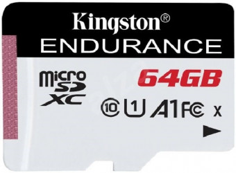 Kingston 64GB microSD XC High Endurance, 95R Class 10 UHS-I U1