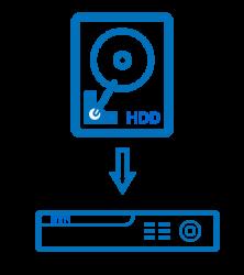 Instalace HDD do záznamového zařízení